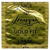 Strapped Large Gold Fit lubricated condoms