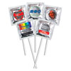 Custom Labeled Assorted Colors Pleasure Pop™ Silver/Clear Foil