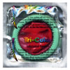 DISCONTINUED Kameleon Tri-Colored Green/White/Red Condoms