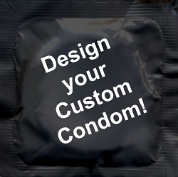 Custom Foil / Printed Condoms - Create Your Own Image!<br>As low as $0.45 each based on order quantity.