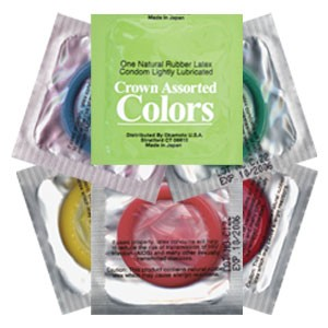 Crown Assorted Colored  Condoms