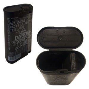 Fitpack DISPOSA-SAFE 250ml Sharps Container Black w Divider