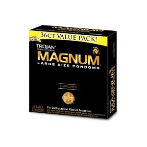 Trojan Magnum Lubricated Condoms 36ct