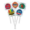 Custom Labeled Assorted Colors Pleasure Pops™ w/Clear Foils