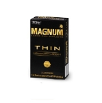 Trojan Magnum Thin Condoms (12 Ct Packs)
