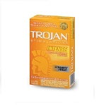 Trojan Stimulations Intense Ribbed Ultrasmooth Condoms 12 Ct vert pack