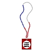 Custom Labeled Carnival Condom Beads (Red/White/Blue)