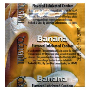 Trustex Banana Flavored Condoms
