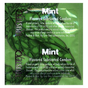 Trustex Mint Flavored<br>Condoms (1000/case)<br> only 4 cases available!