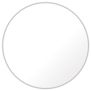 "Circular 1.5"" Diameter Gloss White Custom Label"
